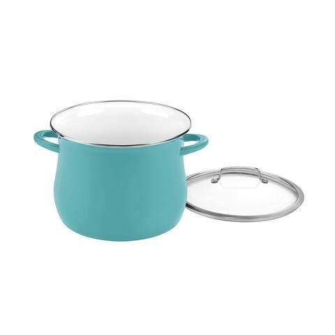 Cuisinart EOSB126-28TL Enamel on Steel 12 Qt. Stockpot w/Cover, Turquoise
