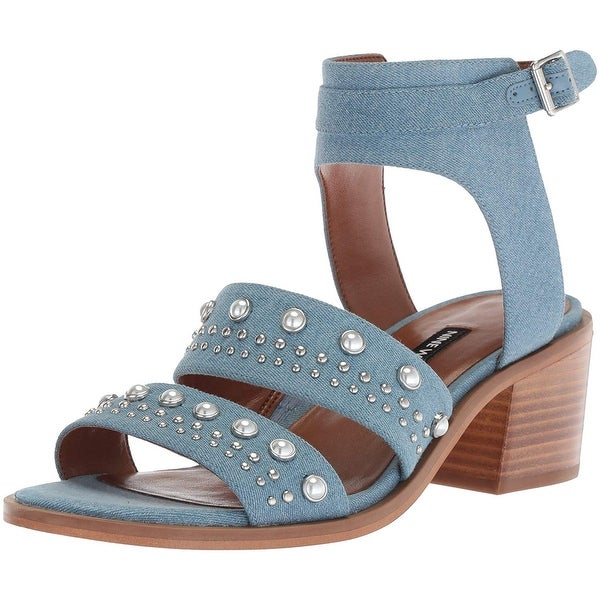 Nine West Women's Richgal Denim Heeled Sandal