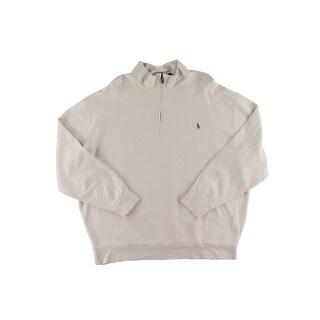 Polo Ralph Lauren Mens Big & Tall Henley Shirt Half-Zip Pull Long Sleeve