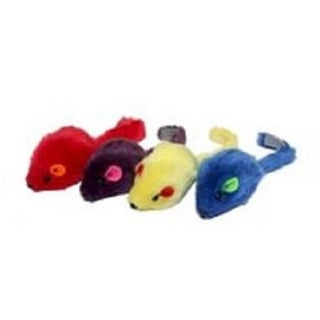Cat Toy Multi-Colored Mice - 4pk. (Assorted Colors) - 2 inches each