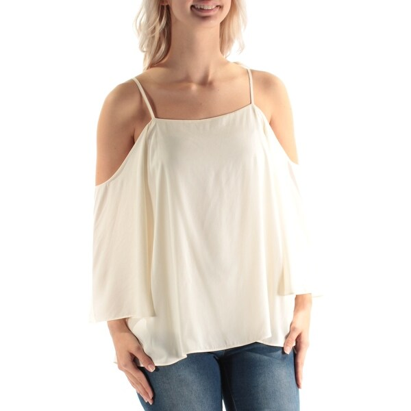 9b17798c94d51 Shop Womens White Spaghetti Strap Off Shoulder Top Size S - Free Shipping  On Orders Over  45 - Overstock - 21331742