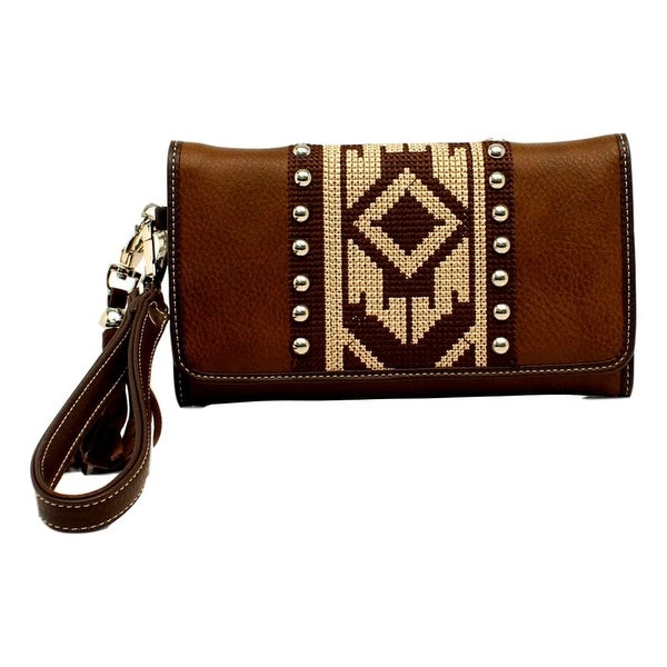 "Blazin Roxx Western Wallet Womens Shania Clutch Aztec Brown - 7 1/2"" x 4"""