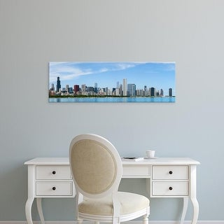 Easy Art Prints Panoramic Image 'City at the waterfront, Lake Michigan, Chicago, Cook County, Illinois' Canvas Art
