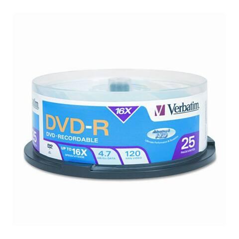Verbatim VTM95058M VERBATIM 95058 4.7GB DVD-Rs (25-ct Spindle) - Multicolor