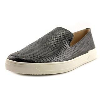 Via Spiga Galea 5 Youth Round Toe Leather Black Loafer