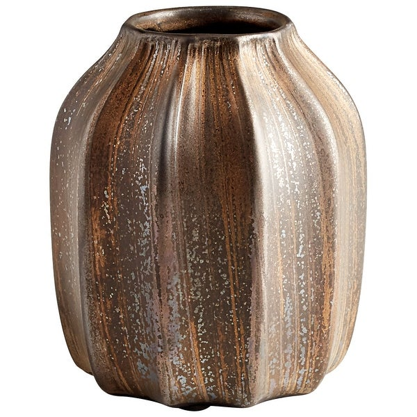 "Cyan Design 09063 Mason 6-1/4"" Diameter Ceramic Vase - Golden Cinder"