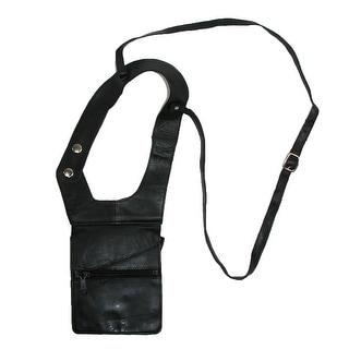 CTM® Unisex Leather Travel Shoulder Wallet