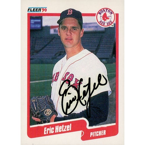 Shop Signed Hetzel Eric Boston Red Sox 1990 Fleer Baseball