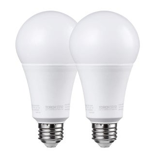 TORCHSTAR 2 Pack 17W Dimmable LED A21 Bulb, 2700K