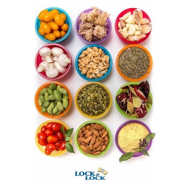 Lock and Lock 24pc Airtight Spill ProofPlastic Food Storage Mini Bowl 250ml/8 oz Assorted Container Set