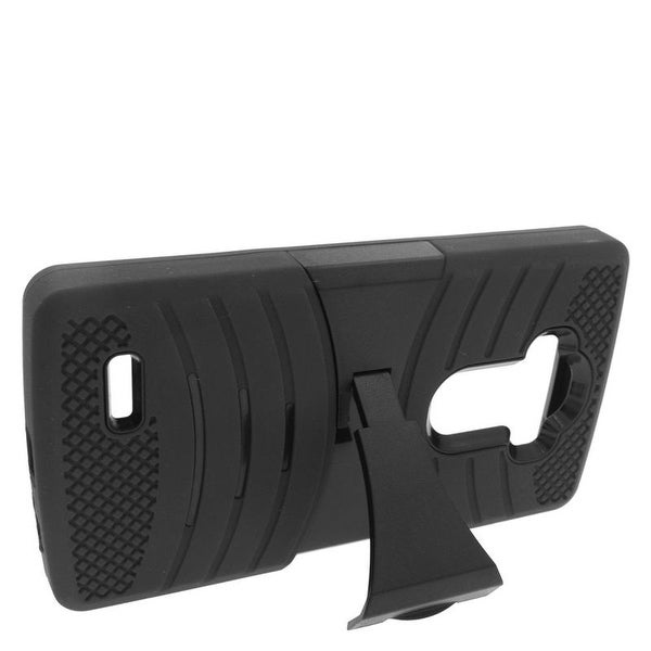 Insten Wave Symbiosis Dual Layer Hybrid Stand Rubber Silicone/ PC Case Cover For LG G4