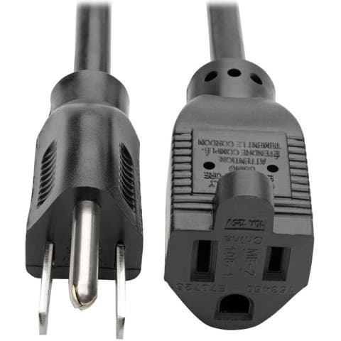 Tripp lite p022-012 12ft power extension cord 10a - Black