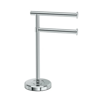 Gatco 1472 Latitude? Freestanding Counter top Double Hook Towel Stand