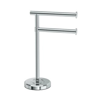 Gatco 1472 Latitude? Freestanding Counter top Double Hook Towel Stand (2 options available)