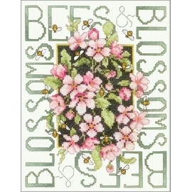 Bucilla Bees and Blossoms Stamped Cross Stitch Kit