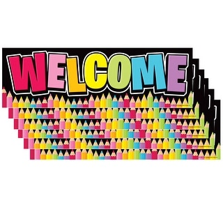 (6 Ea) Magnetic Welcome Banner Neon Black