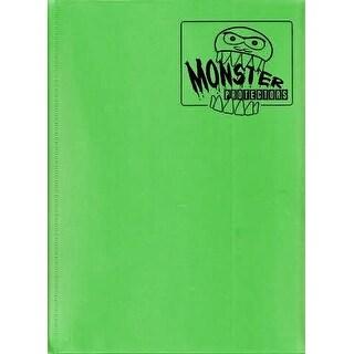 Trading Card Supplies - Monster Protectors - 9 Pocket Binder - FLAT GREEN - New