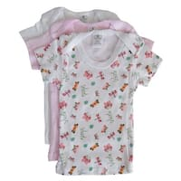 Bambini Baby Girls Multi Color Variety Short Sleeve Lap 3-Pack T-Shirts