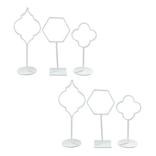 Acotas White Photo Holder A2000144 - Set of 3 Acotas White Photo Holder - Set of 3