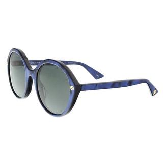 Gucci GG0023S 004 Blue Round Sunglasses - 55-22-140