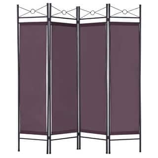 Costway Brown 4 Panel Room Divider Privacy Screen Home Office Fabric Metal Frame|https://ak1.ostkcdn.com/images/products/is/images/direct/8b0badf3bfa4ca8f6c9de87785a847a32b3971a9/Costway-Brown-4-Panel-Room-Divider-Privacy-Folding-Screen-Home-Office-Fabric-Metal-Frame.jpg?impolicy=medium