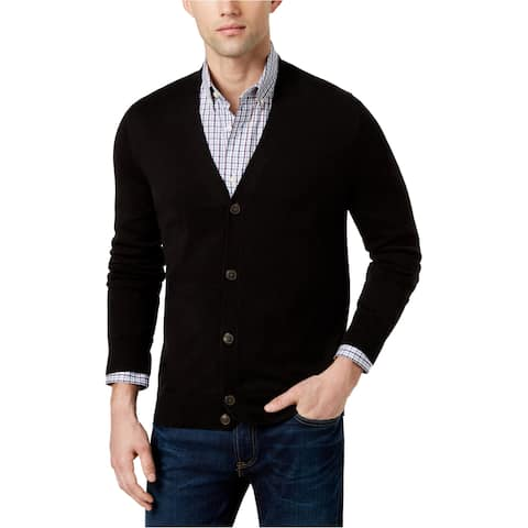Tommy Hilfiger Mens Signature Solid Cardigan Sweater