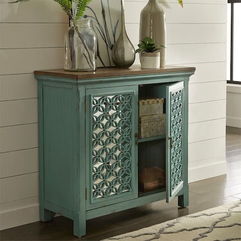 Stephanie Turquoise 2-door Accent Cabinet