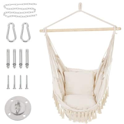 Hammock Chair with 2 Cushions and Hardware Kits