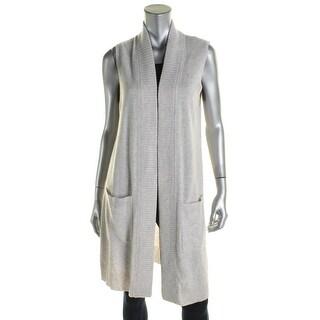 Private Label Womens Sweater Vest Cashmere Sleeveless - L