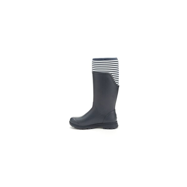 Muck Boots Navy/White Stripe Women's Cambridge Tall Boot - Size 11