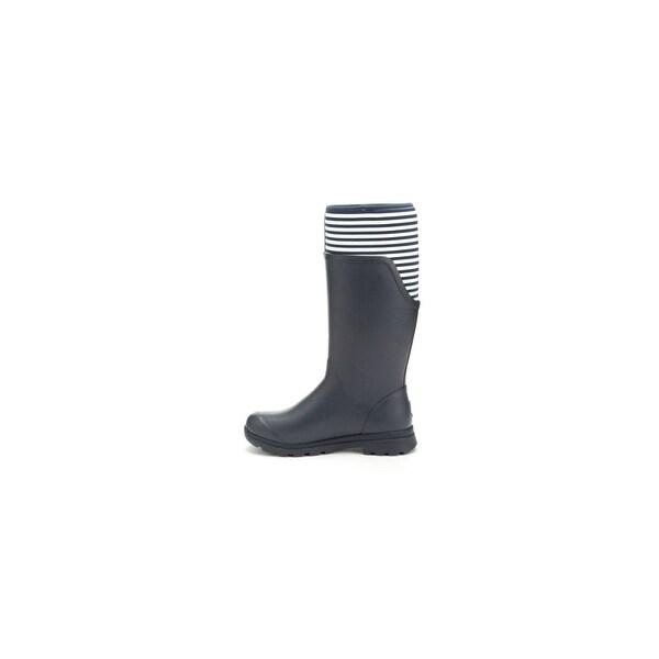 Muck Boots Navy/White Stripe Women's Cambridge Tall Boot - Size 6