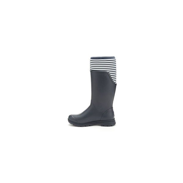 Muck Boots Navy/White Stripe Women's Cambridge Tall Boot - Size 8