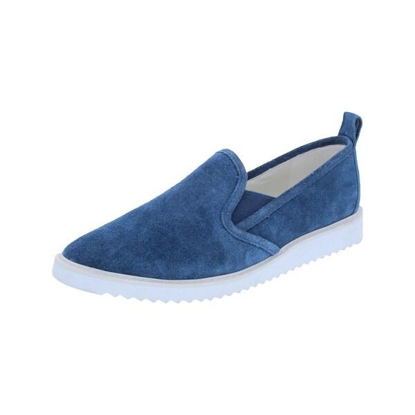 Karl Lagerfeld Paris Womens Clement Loafers Casual Round Toe Blue 6 Medium (B,M) - 6 medium (b,m)