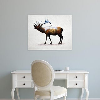 Easy Art Prints Davies Babies's 'Rocky Mountain Elk' Premium Canvas Art