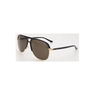 Gucci Grey Aviator Sunglasses Gg0292S 001 60 - black-black-grey - One size