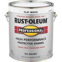 Rust-Oleum Flat White Enamel 7790-402 Unit: GAL