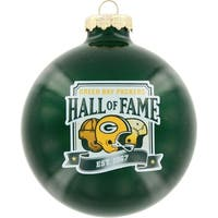 Green Bay Packers Round Ornament - Hall of Fame