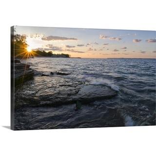 """USA, Ohio, Lake Erie"" Canvas Wall Art"