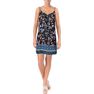 Aqua Womens Sleeveless Mini Casual Dress