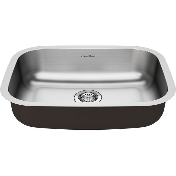 """American Standard 18SB.6231800S Portsmouth 23-3/8"""" Drop In Single Basin Stainless Steel Kitchen Sink with Basket Strainer"""