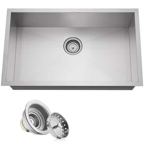 "30""x18""x9"" Stainless Steel Single Bowl Undermount Kitchen Sink Basin"