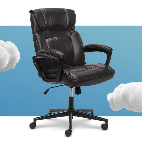Serta Microfiber Office Chair with Headrest Pillow. Opens flyout.