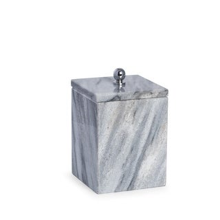 Link to Marble Bath Canister with Lid in Cloud Grey Similar Items in Bathroom Accessory Sets