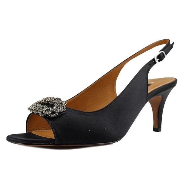Kay Unger Arrale   Open Toe Canvas  Sandals