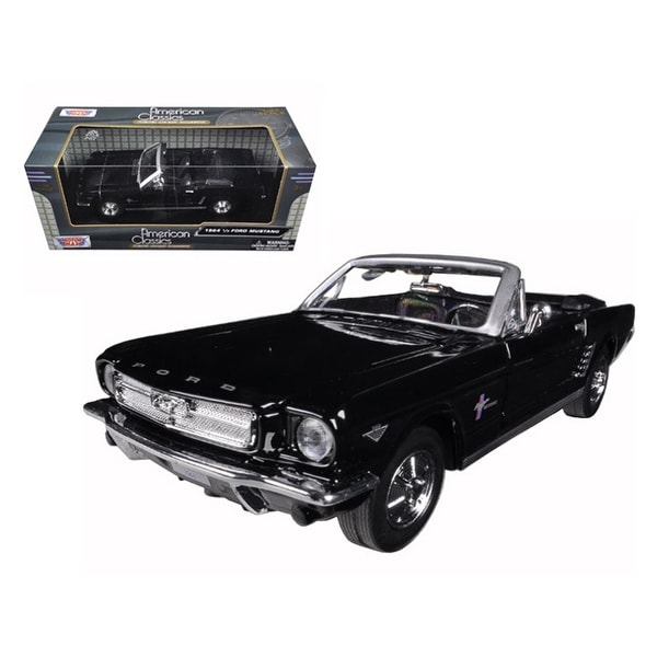 Shop 1964 1/2 Ford Mustang Convertible Black 1/24 Diecast