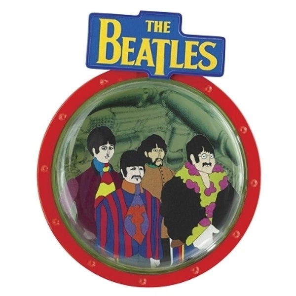 Carlton Cards Heirloom The Beatles Yellow Submarine Porthole Disc Christmas Ornament - RED