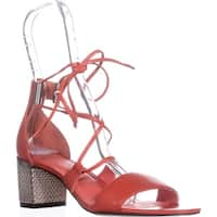 Calvin Klein Natania Lace-Up Dress Sandals, Deep Blush - 9 us / 39 eu