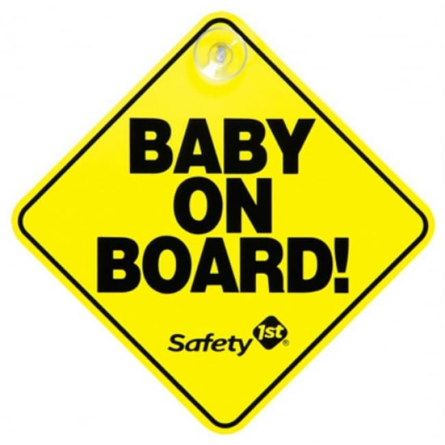 Safety 1St 48918 Baby On Board Car Window Sign with Suction Cup, Bright Yellow