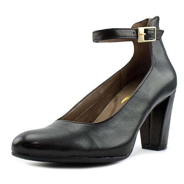 Aerosoles Resort Women Round Toe Leather Black Heels