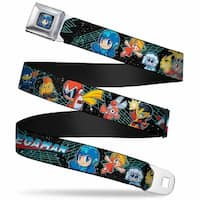 Chibi Megaman2 Close Up Full Color Black Blue Megaman 11 Chibi Characters Seatbelt Belt